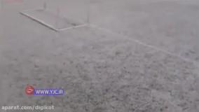 بارش تگرگ وحشتناک در اندیمشک خوزستان