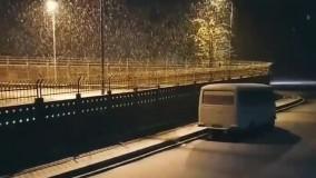 بارش نخستین برف زمستانی در رشت