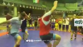 رقص ملی پوشان کشتی در جشن تولد یزدانی