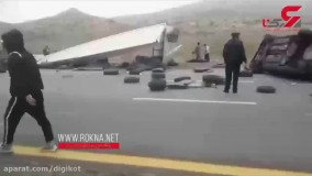فیلم وحشتناک از فاجعه اتوبان زنجان به قزوین / ماشین ها تکه تکه شدند