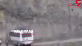 فیلم شجاع ترین راننده اتوبوس ؛ او در لبه پرتگاه چه کرد!