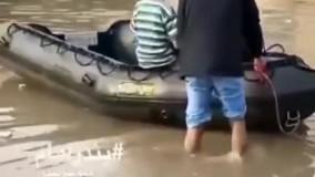 جابجایی بیمار و تردد در بیمارستان سربندر با قایق