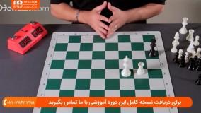 چگونگی حرکت دادن مهره های شطرنج در ابتدای بازی