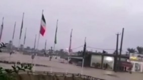 جاری شدن سیل در استان بوشهر