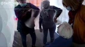 «حباب آغوش» در خانه سالمندان در فرانسه