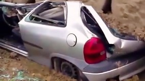 عبور تانک از روی خودرو