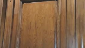 درب تمام چوب لابی
