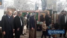 حضور رئیس مجلس در حرم حضرت زینب(س)