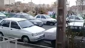 مسدود کردن ورودی پل عابر پیاده