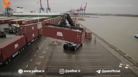 حمل بار 750 تنی با کامیون ولوو