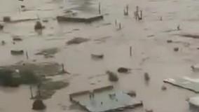 بحران در لرستان؛ مردم به پشت بام ها پناه بردند