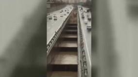 طغیان مسیل اتوبان باکری در تهران