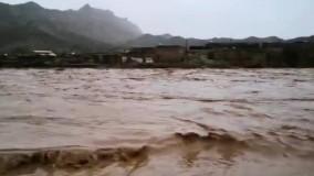 یک روستا از توابع پلدختر زیر آب رفت