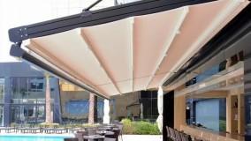 سقف برقی تالار: سایبان کنترلی رستوران