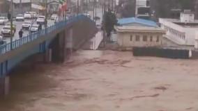 طغیان کشکان در پلدختر و همسطح شدن با ساحل ساعت ۹:۱۰ صبح، ۷ اسفند ۹۸