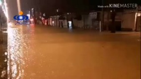 نورآباد لرستان در محاصره سیلاب