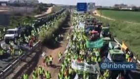 تظاهرات متفاوت کشاورزان در اسپانیا
