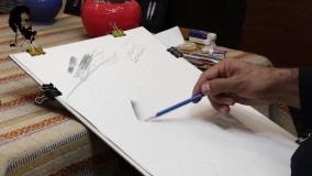 آموزش سیاه قلم طریقه رنگ گذاری
