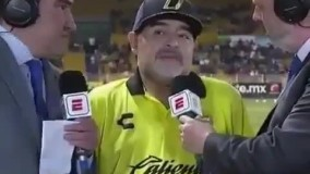 از مارادونا درباره لیگ مکزیک سوال میکنن، قفل میکنه بنده خدا