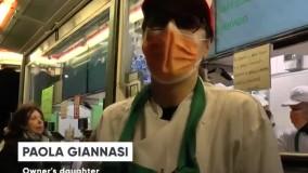 رعایت فاصله اجباری برای خرید غذای آماده در میلان