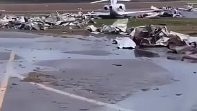 نابودی عجیب دهها هواپیما در توفان هفته گذشته آمریکا