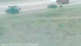 فرود بدون چرخ در حضور استاد خلبان
