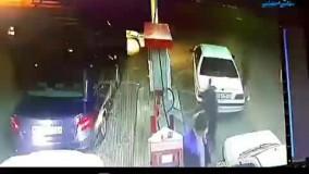 تیراندازی به کارگر پمپ بنزین