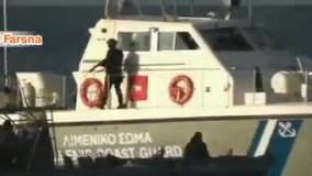 تلاش گارد ساحلی یونان برای «غرق کردن» قایق پناهجویان!