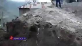 ریزش وحشتناک کوه در سوادکوه
