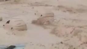 سیل وحشتناک دیروز در استان بوشهر