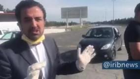 ویدئویی از  آغاز محدودیت آمد و شد در تهران