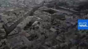 تصاویر پهپادی از پاریسِ گرفتار در قرنطینه