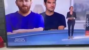 گاف عجیب شبکه M6 فرانسه:عکس رضا پرستش به جای لیونل مسی!