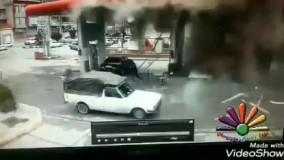 انفجار وحشتناک یک خودرو در جایگاه CNG