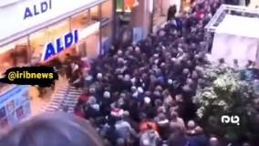 کرونا؛ حمله مردم به یک فروشگاه در آلمان