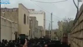 مراسم تشیع در اصفهان با جمعیت چند هزارنفری!