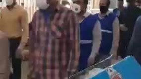 ترساندنِ مردم از کرونا با لباس عزارائیل در خرمشهر!