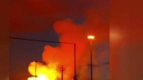 اولین ویدیو از انفجار در خط صادرات گاز ایران به ترکیه در شهر مرزی ماکو بازرگان