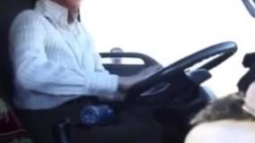 رانندگی پریناز ایزدیار با کامیون