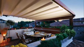 سقف برزنتی رستوران- سایبان کنترلی حیاط رستوران- سقف برقی فودکورت - 09300093935