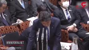 سرفههای پیاپی نخستوزیر ژاپن در سخنرانی امروز خود در پارلمان