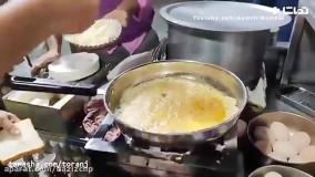 فست املت پنیری خیابانی به روش هندی ها