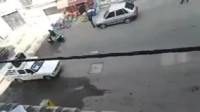 اقدام عجیب راننده وانتی در خیابان لنگرود