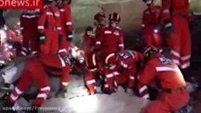 سقوط هتل نگهداری بیماران کرونا در چین