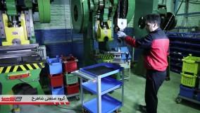 گروه صنعتی شاهرخ - روند تولید - تجهیزات انبارش قطعات سنگین