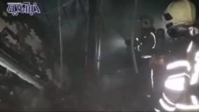 نخستین تصاویر از آتشسوزی بازار ستارخان