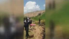 سقوط تانکر 18000 لیتری قیر به دره جاده ایذه - دهدز