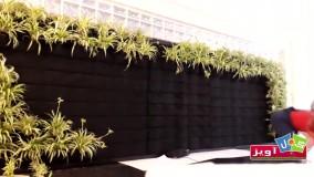 نصب و راه اندازی استند دیوار سبز گل آویز