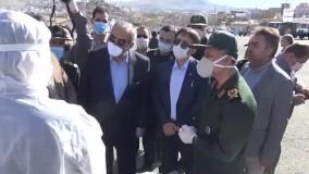 رزمایش دفاع بیولوژیک و افتتاح بیمارستان صحرایی سپاه در سنندج