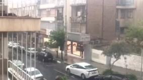 رگبار بهاری تهران را غافلگیر کرد
